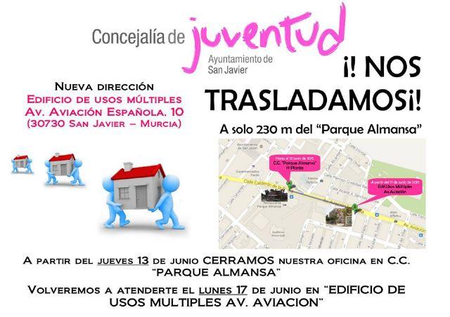 La concejalía de Juventud estará cerrada 2 días por traslado a su nueva sede en el edificio de usos múltiples de la avenida Aviación - 1, Foto 1