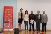 Los estudiantes Ginés Moreno y Ana Belén López, premiados por sus excelentes expedientes académicos en los III Premios Doctor Pedro Guillén