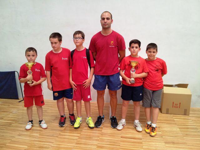 El C.D. Mazarrón Tenis de Mesa se alza campeón benjamín en el Campeonato Regional por Equipos, Foto 1