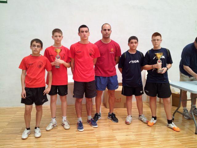El C.D. Mazarrón Tenis de Mesa se alza campeón benjamín en el Campeonato Regional por Equipos, Foto 2
