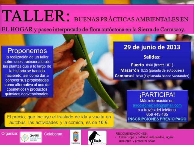 Abierto el plazo de inscripción para el taller sobre el uso de las plantas tradicionales en el hogar, Foto 1