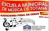La Escuela Municipal de Música de Totana organiza seis audiciones de final del curso 2012/13 durante la próxima semana