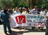 Concejales de IU-Verdes Totana asistieron a la Manifestaci�n en apoyo a los trabajadores de ElPozo Alimentaci�n
