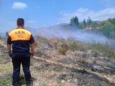 Efectivos del Infomur apagan un conato de incendio forestal en el Camino de los Jaboneros