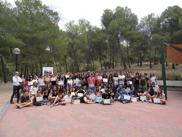 Los corresponsales juveniles de San Javier despiden el curso con sus colegas de otros municipios en un Encuentro celebrado en el Albergue Juvenil del Valle - 1, Foto 1