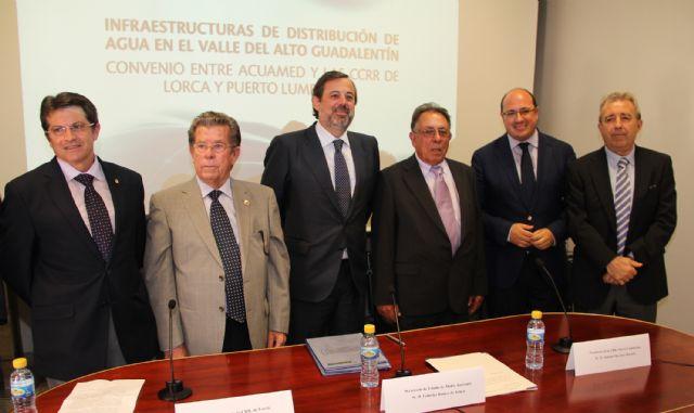 Federico Ramos firma un convenio con los regantes de Lorca y Puerto Lumbreras - 2, Foto 2