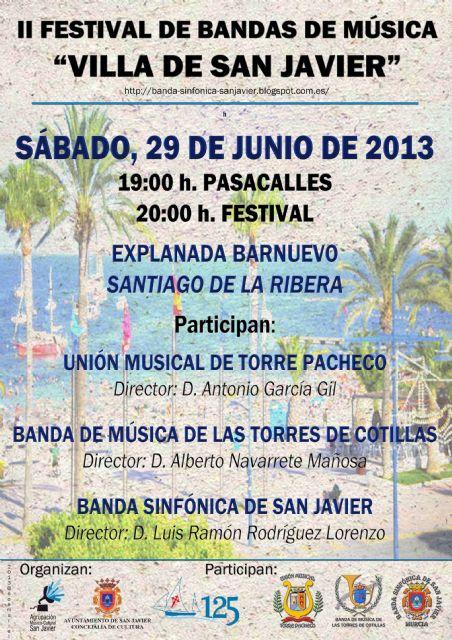 Las Bandas de San Javier, Torre Pacheco y Las Torres de Cotillas en el II Festival de Bandas de Música Villa de San Javier - 1, Foto 1
