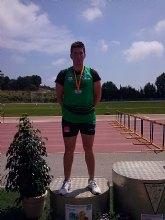El atleta de Roldán, Juan José Martínez, obtiene la medalla de plata en jabalina en el Campeonato de España Promesa de Mataró