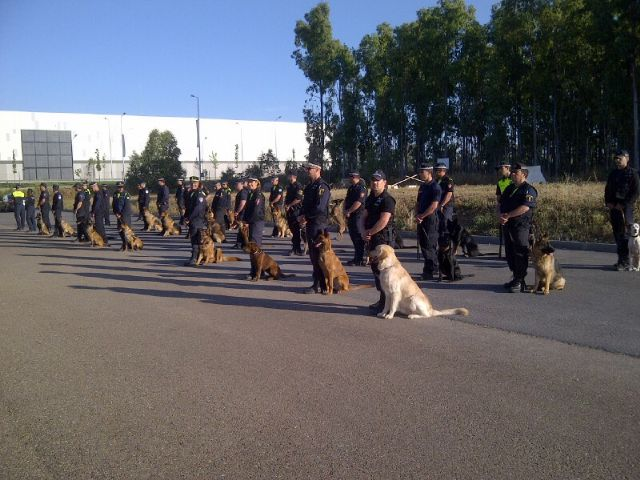 Out of A Canine Unit Totana Local Police involved as I monitor the dog handlers course Drug Detector Dog