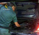La Guardia Civil detiene a tres personas  por la sustracción de cable de cobre de tendido telefónico en Cieza