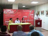 Presentaci�n en Mazarr�n del Plan de Empleo del PSRM-PSOE por parte de su Secretario General, Gonzalez Tovar