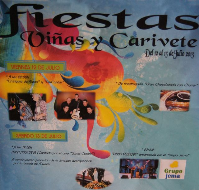 The Vines and Carivete parties held this weekend on 12 and 13 July