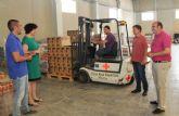 El Ayuntamiento y Cáritas Parroquial repartirán más de 6.000 kg de alimentos para distribuir entre las familias más necesitadas