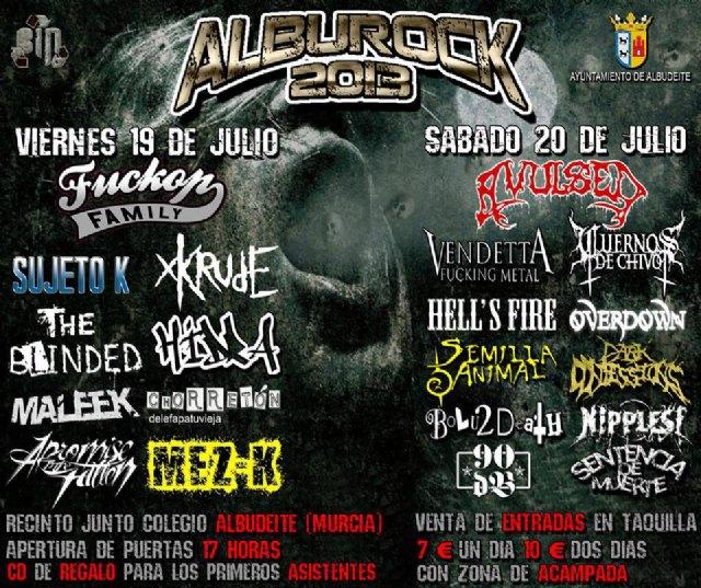 Este próximo fin de semana vuelve a la localidad murciana de Albudeite el festival Alburock - 1, Foto 1