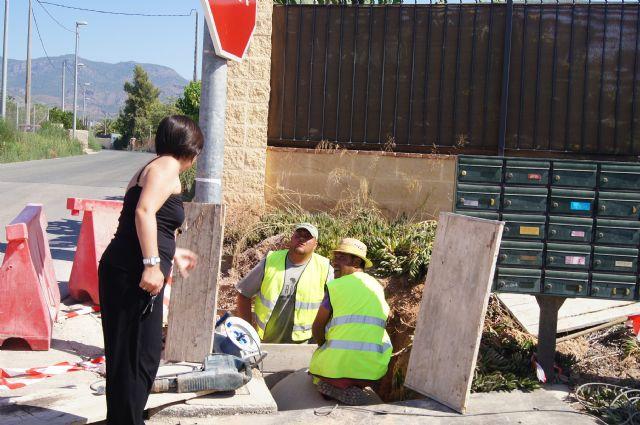 La Dirección General de Carreteras lleva a cabo obras para evitar inundaciones por lluvias en los viales del nuevo colegio de la Cruz y en el Rulo - 3, Foto 3
