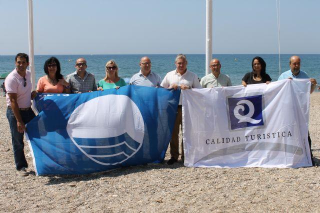 Las playas de Mazarrón ya lucen sus distintivos de calidad turística - 2, Foto 2
