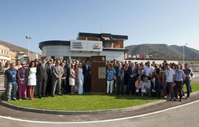 Brufau dedica su plaza en Escombreras a los trabajadores y directivos de la Refinería - 5, Foto 5