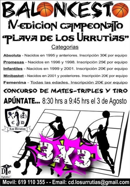 Vuelve el Campeonato 3x3 de Baloncesto a la playa de Los Urrutias - 1, Foto 1