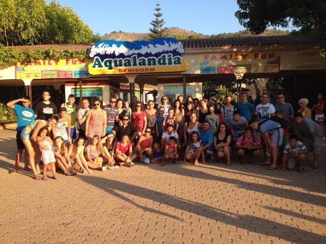 The Delegation of Totana of Lourdes Hospitality organized its traditional summer trip to Aqualandia Benidorm