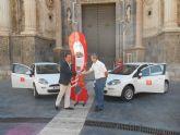 Transportes de Murcia entrega dos vehículos ecológicos al Ayuntamiento para facilitar la labor de inspección
