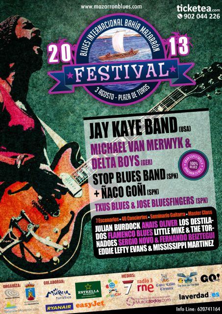 Llegan 3 días de blues de manos del I festival internacional de blues Bahía de Mazarrón - 1, Foto 1