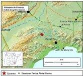 Un temblor de 2,9 grados con epicentro en el noroeste de Mazarrón se deja sentir en Totana