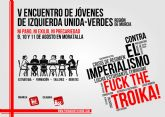 El Área de Juventud de IU-Verdes de la Región de Murcia realizará su V Encuentro Regional en Moratalla, durante los días 9, 10 y 11 de agosto