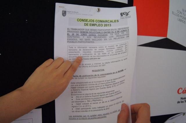 Totana recibe un total de 340.868 euros a trav�s de los Consejos Comarcales de Empleo, Foto 1