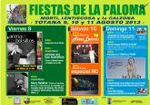Las fiestas de La Paloma, que abarcan la zona de Mortí, Lentiscosa y la Calzona, arrancan esta noche con actuaciones musicales