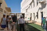 El consejero de Educación y el Alcalde de San Javier visitan las obras del colegio 'El Recuerdo' que estará listo para el próximo curso
