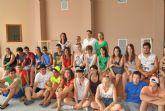 Los jóvenes de intercambio europeo Juventud en Acción disfrutan hoy de un día de actividades en San Javier