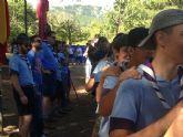 El Concejal de Juventud de Lorca visita a los 150 scouts lorquinos que participan en el campamento de verano en la Comarca de Alhama de Granada