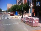 Se inician las obras de reparación del hundimiento de la calzada en el jardín Narciso Yepes, junto a la Avda. General Aznar