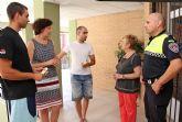 La Policía Local de Puerto Lumbreras rescata a una pareja de ancianos atrapados en su vivienda a causa de un incendio