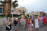 Los vecinos de la pedanía costera de El Mojón honran a San Roque