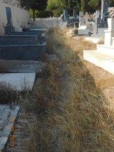 El PSOE de La Unión denuncia el 'lamentable estado de abandono' del cementerio de Portmán