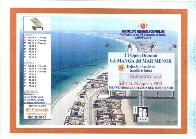 La Manga acoge el II Open Dominó Trofeo Ayuntamiento de San Javier el sábado 24 de agosto - 1, Foto 1