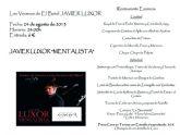 El tricampeón de España de Mentalismo, Javier Luxor, actuará este sábado en la terraza de El Batel