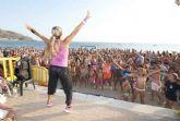 El deporte estival congrega a 5.000 personas en las playas de Cartagena