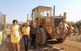 Agricultura comienza las obras de acondicionamiento de caminos rurales afectados por las riadas en Puerto Lumbreras