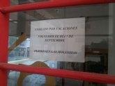 Numerosas quejas por el cierre de la oficina de turismo de Archena en pleno agosto