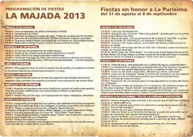 La Majada programa unos originales festejos en honor a la Purísima, Foto 2