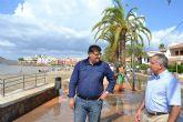El alcalde visita las zonas más afectadas tras la tormenta de ayer
