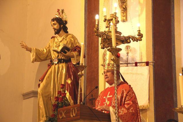 El pueblo de Pliego vive su experiencia de fe junto a María , Mons. Lorca Planes durante la Apertura del Año Jubilar Santiaguista de Pliego - 2, Foto 2