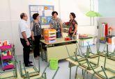 La Alcaldesa supervisa los últimos detalles para el inicio del curso escolar en los centros educativos de Puerto Lumbreras