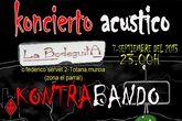 Kontrabando ofrecer� un concierto en ac�stico mañana s�bado 7 de septiembre en La Bodeguita