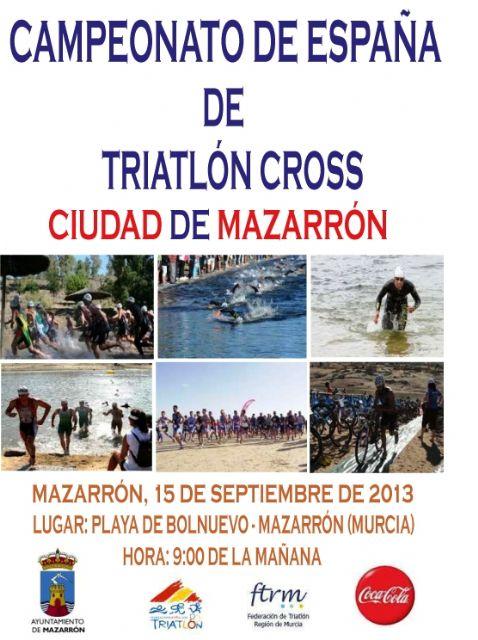 Más de 300 atletas se darán cita este domingo en el Campeonato de España de Triatlón Cross, Foto 1