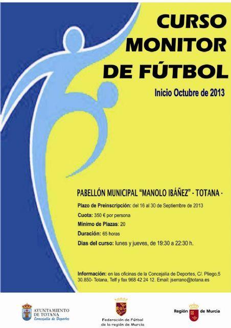 La concejalía de Deportes organiza un curso de monitor de futbol, Foto 1