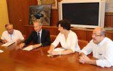 La Alcaldesa se reúne con el Presidente de la Confederación Hidrográfica del Segura para analizar los proyectos que se desarrollan en Puerto Lumbreras