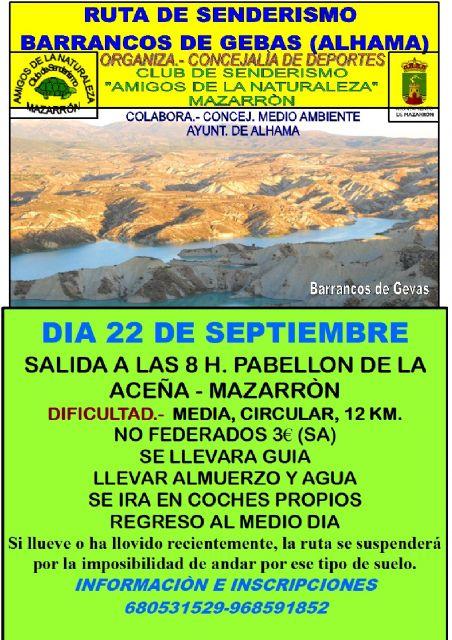 Se recupera la ruta senderista del barranco de Gebas, Foto 1
